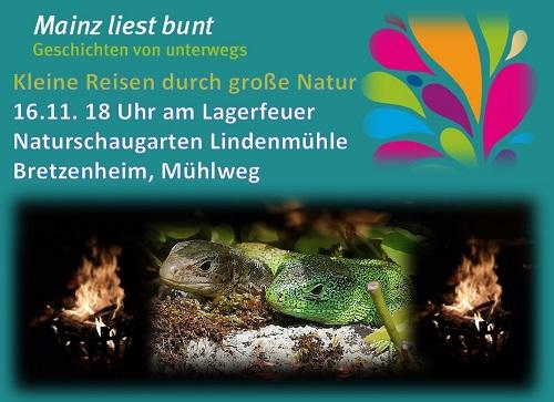 Mainz liest bunt - Im Naturschaugarten Lindenmühle
